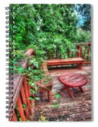Peace Nature And Geometry Spiral Notebook
