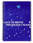 Peace On Earth Card Spiral Notebook