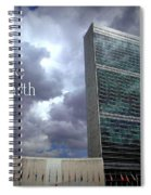 Peace On Earth - United Nations Spiral Notebook