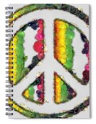 Peace Sign Fruits And Vegetables Spiral Notebook