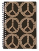 Peace Symbol Collage Spiral Notebook