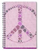 Peace Symbol Design - 42ct2b Spiral Notebook
