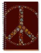 Peace Symbol Design - S05d Spiral Notebook