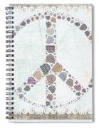 Peace Symbol Design - S76at02 Spiral Notebook