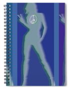 Peace Woman Repeat Spiral Notebook