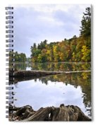Peaceful Autumn Lake Spiral Notebook