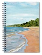 Peaceful Beach At Pier Cove Spiral Notebook