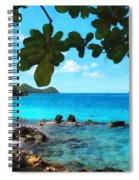 Peaceful Beach St. Thomas Spiral Notebook