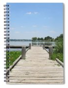 Peaceful Fishing Dock Spiral Notebook