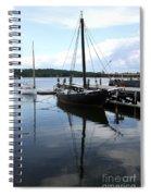 Peaceful Harbor Scene - Ct Spiral Notebook