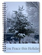 Peaceful Holiday Card - Winter Landscape Spiral Notebook