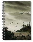 Peaceful Inland Cove Spiral Notebook