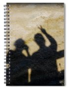 Peaceful People Shadows Spiral Notebook