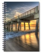 Peaceful Surf Spiral Notebook
