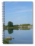 Peaceful Water Reflection At Tommy Thompson Park Spiral Notebook