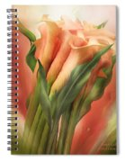 Peach Callas Spiral Notebook