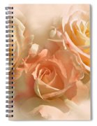 Peach Roses In The Mist Spiral Notebook
