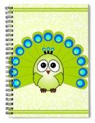 Peacock  - Birds - Art For Kids Spiral Notebook