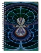 Peacock Feather Abstract Spiral Notebook