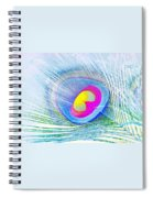 Peacock Feather Neon Spiral Notebook