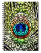 Peacock Feather - Stone Rock'd Art By Sharon Cummings Spiral Notebook