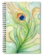 Peacock Feather Watercolor Spiral Notebook