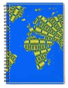 Peacock Feather World Map Spiral Notebook