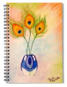 Peacock Feathers In A Vase Spiral Notebook