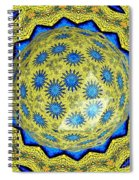 Peacock Feathers Under Polyhedron Glass 3 Spiral Notebook