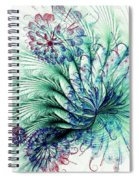 Peacock Tail Spiral Notebook