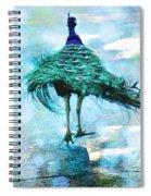 Peacock Walking Away Spiral Notebook
