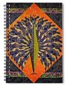 Peacock Yoga  Spiral Notebook