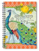 Peacocks In The Rose Garden-3 Spiral Notebook