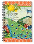 Peacocks In The Rose Garden Spiral Notebook