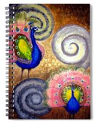 Peacock Swirl Spiral Notebook