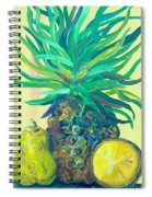 Pear And Pineapple Spiral Notebook