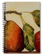 Pear Plum Apple Spiral Notebook