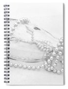 Pearls And Old Glass Abstract Spiral Notebook