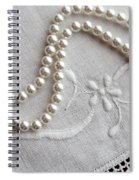Pearls And Old Linen Spiral Notebook