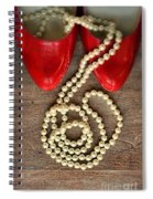 Pearls In Red Shoes Spiral Notebook