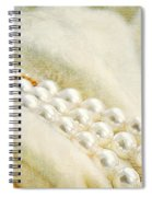Pearls On White Velvet Spiral Notebook