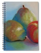 Pears And Apple Spiral Notebook