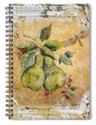 Pears And Dragonfly On Vintage Tin Spiral Notebook