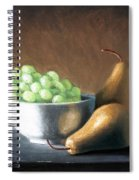 Pears And Grapes Spiral Notebook