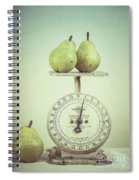 Pears And Kitchen Scale Still Life Spiral Notebook