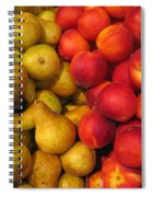 Pears And Peaches. Fresh Market Series Spiral Notebook