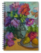 Pears And Roses Spiral Notebook