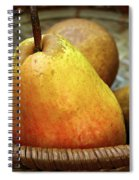 Pears In A Basket Spiral Notebook
