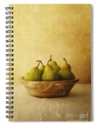 Pears In A Wooden Bowl Spiral Notebook