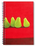 Pears On Red Cloth Spiral Notebook